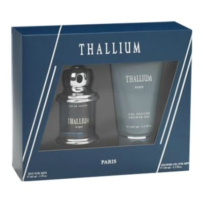 Paris Bleu Thallium - Set for Men, Eau de Toilette, Showergel